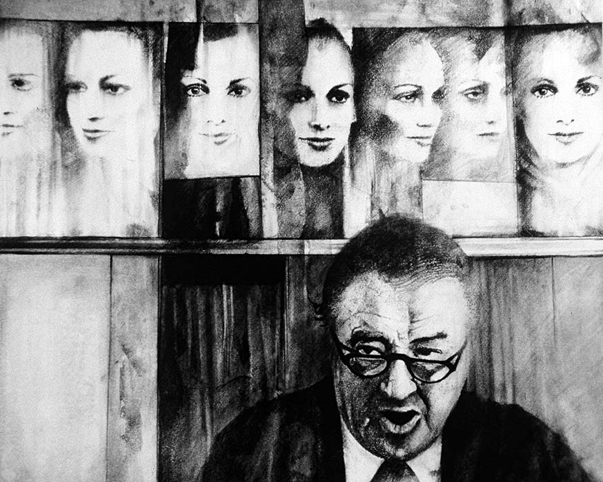 """FACADE #6 CHARCOAL ON PAPER  22""""X24"""" 1993"""
